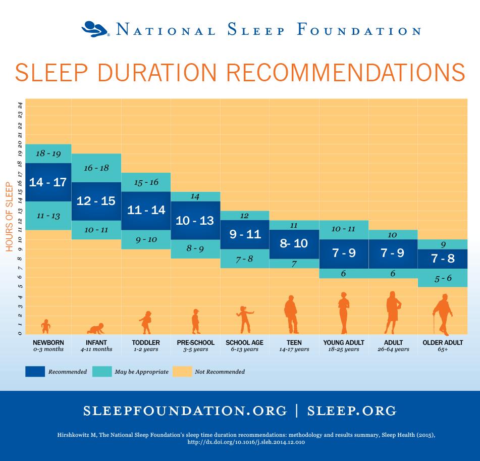 quante ore bisogna dormire la notte